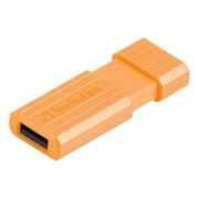 8Gb Verbatim PinStripe Volcanic Orange USB 2.0 (47389)
