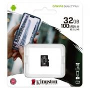 Карта памяти Micro SDHC 32Gb Kingston Class 10 Canvas Select + UHS-I U1 A1, 100 Мб/с (SDCS2/32GBSP)