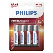Батарейка AA Philips LR6-4BL Power Alkaline, 4шт, блистер