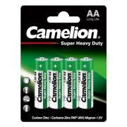 Батарейка AA CAMELION Super Heavy Duty R6P-BP4G, солевая, 4шт, блистер