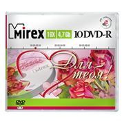 Диск DVD-R Mirex 4,7 Gb 16x Для тебя!